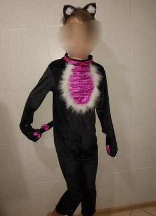 Карнавальный костюм детский кошка котик