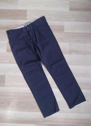 Синие повседневные брюки штаны на мальчика 8-9 лет