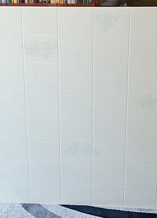 Декоративная панель ДВП под плитку (белая) 167 на 122 см.