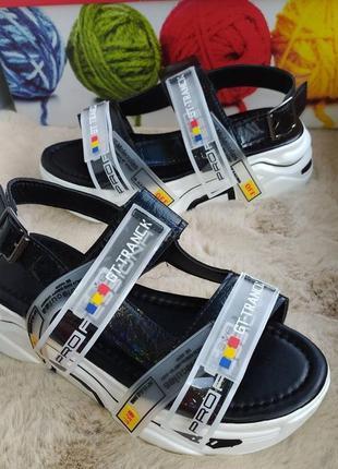 Распродажа! чёрные босоножки сандали на платформе