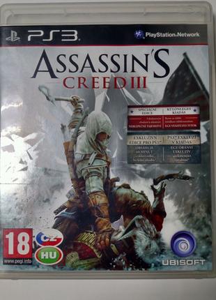 Игра диск Assassin's Creed III 3 для PS3