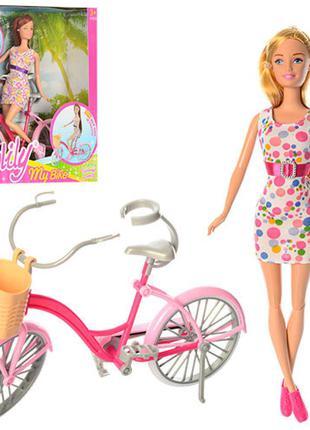 Кукла с велосипедом 99043