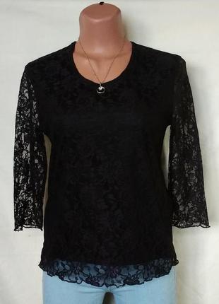 Нарядная гипюровая блузка с-м