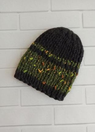 Шапка тёплая, зимняя шапка, шапка без отворота