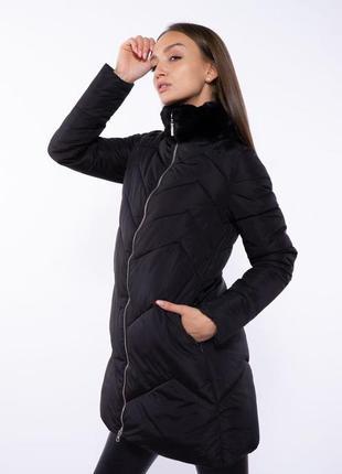 Куртка женская с меховым воротником