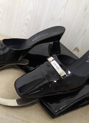 Escada мюли туфли лаковые оригинал
