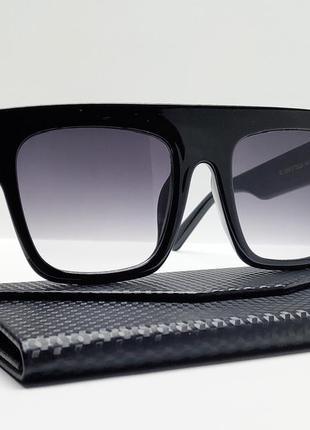 Женские солнцезащитные черные очки