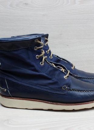 Мужские кожаные ботинки sebago x vane, размер 42.5 - 43