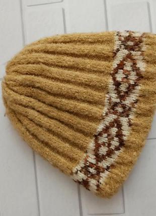 Шапка зимняя, теплая шапка без отворота