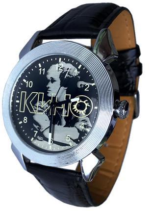 Часы мужские наручные виктор цой и группа кино, серебристый ко...