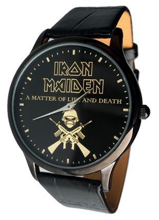 Часы мужские группа айрон мэйден, iron maiden, рок, череп, металл