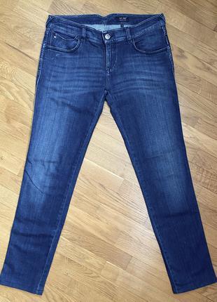 Женские прямые синие джинсы armani jeans, размер 29