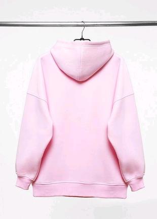 Худи утепленный PUNCH - Clean Oversize, Pink