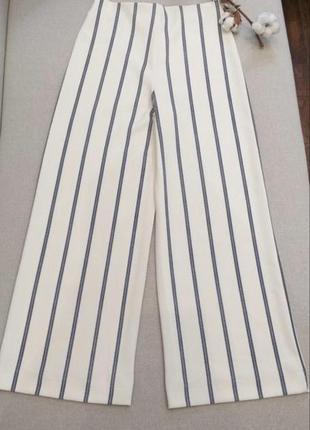 Стильные брюки кюлоты штаны в полоску штани