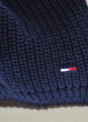 Котоновый шарф tommy hilfiger