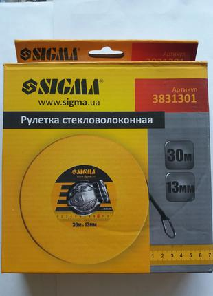 Рулетка стекловолокно 30м*13мм Sigma