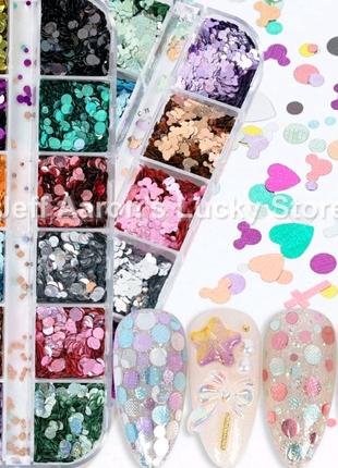 Бльостки для нігтів манікюру камуфубуки