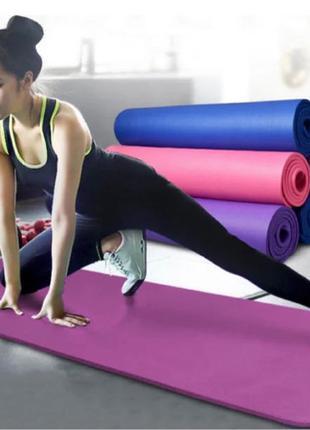 Коврик для йоги и фитнеса Power System Fitness Yoga Розовый