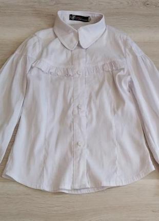 Рубашка белая для девочки р. 122 128