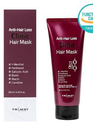 Безсульфатная питательная маска против выпадения волос Trimay