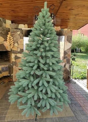 Литая елка Буковельская. Голубая. 210 см.