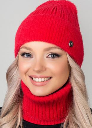 Женский комплект шапка и бафф сакура 6 цветов