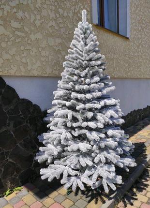 Литая елка Заснеженная Буковель. 210см. Новогодняя, искуственная,
