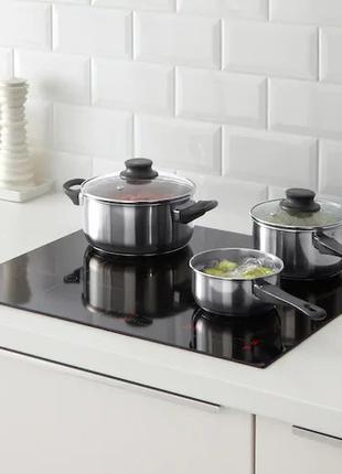 Набор кухонной посуды из нержавеющей стали IKEA кастрюля и сотейн