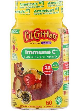 Для детей L´il Critters Immune C, цинк, витамин D для иммуните...