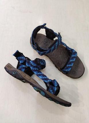 Jack wolfskin синие спортивные, трекинговые сандалии