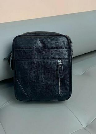 Мужская кожаная сумка чоловіча шкіряна сумочка барсетка на плечо