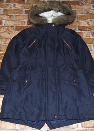 Куртка парка зимняя девочке огонь 10 лет john lewis