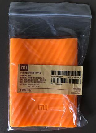 Чехол силиконовый Xiaomi Power Bank 10000mAh Orange
