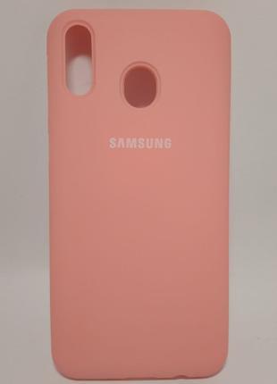Задня накладка Samsung M20 Silicone Cover Pink