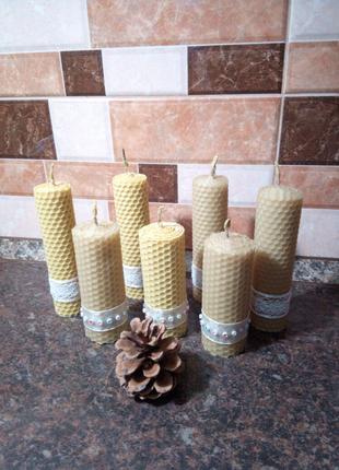 Свечи с вощины, свічки ручноі роботи