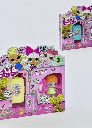 Игровой набор кукла Лол с чемоданом косметики ВВ 39-3