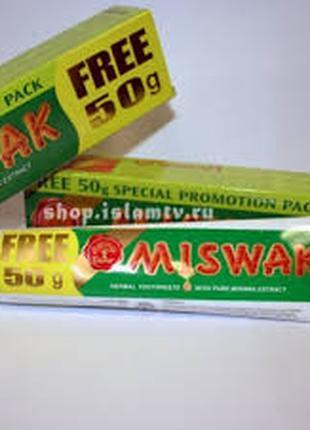 Зубная паста натуральная без фтора Египет Miswak Мисвак Dabur 170