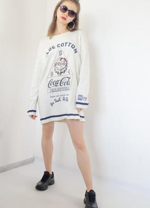Coca-cola collection платье-свитшот с принтом, оверсайз платье...