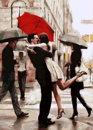 Картина по номерам Поцелуй при встрече. Худ. Ричард Макнейл