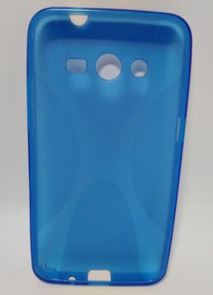 Задня накладка Samsung Galaxy Core 2 G355 сілікон синя