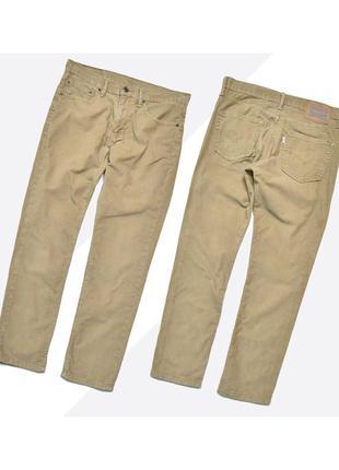 Levis 511 32/32 / бежевые вельветовые джинсы прямого кроя slim...