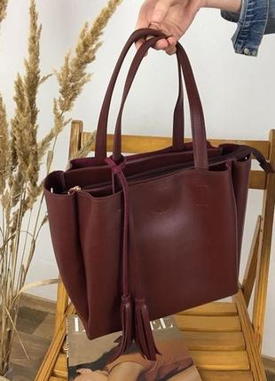 Стильная сумка среднего размера с кисточками в шести расцветках🌈
