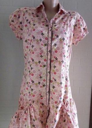 Молодежное летнее платье ,интересная модель.