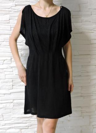 Классическое черное платье трикотажное .