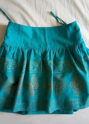 Летняя очень классная юбка atmosphere на манжете (кокетка)xl о...