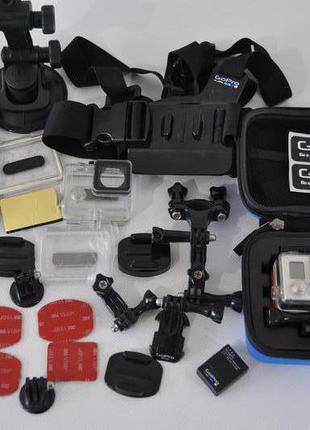 Камера GoPro hero 3+ Две батареи и большой комплект аксесуаров!
