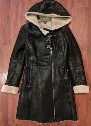 Женская куртка кожаная натуральная дубленка оригинал Турция