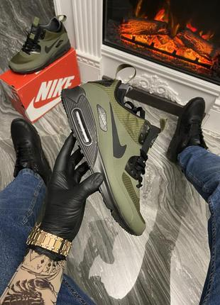 Мужские кроссовки 🔺nike air max 90 sneakerboot mid winter green 🔺