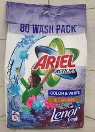 Стиральный порошок Ariel Actilift Lenor Color & White 6 кг (80 ст