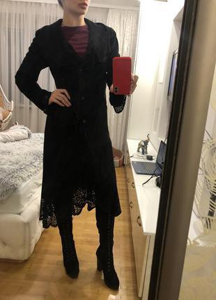 Натуральное замшевое пальто эксклюзив размер м